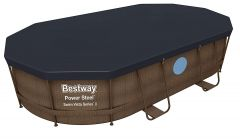 Bestway Power Steel Vista Oval Pool Set 488x305x107 Rattan 56946