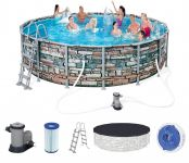 Bestway Steel Pro Pool Set 488x122 Multicolor 56966