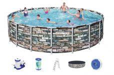 Bestway Steel Pro Pool Set 610x132 Multicolor 56883