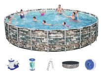 Bestway Steel Pro Pool Set 671x132 Multicolor 56889