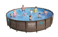 Bestway Power Steel Vista Pool Set 549x122 Rattan 56977