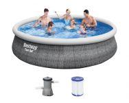 Bestway Fast Set Pool 396x84cm + Pumpe 57321