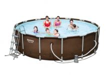 Bestway Steel Pro Pool Set 427x107 Rattan 56647