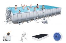 Bestway Rectangular Frame Pool Set 956 x 488 x 132 + Sandfilter 56623