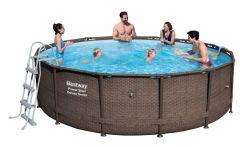 Bestway Power Steel Deluxe Pool Set 427x107 Rattan 56664