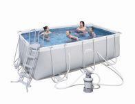 Bestway Frame Pool Set 412 x 201 mit Sandfilter 56457 B-Ware