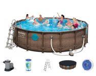 Bestway Power Steel Vista Pool Set 488x122 Rattan 56725