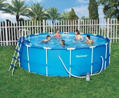 bestway frame pool 457 122 schwimmbad und saunen. Black Bedroom Furniture Sets. Home Design Ideas