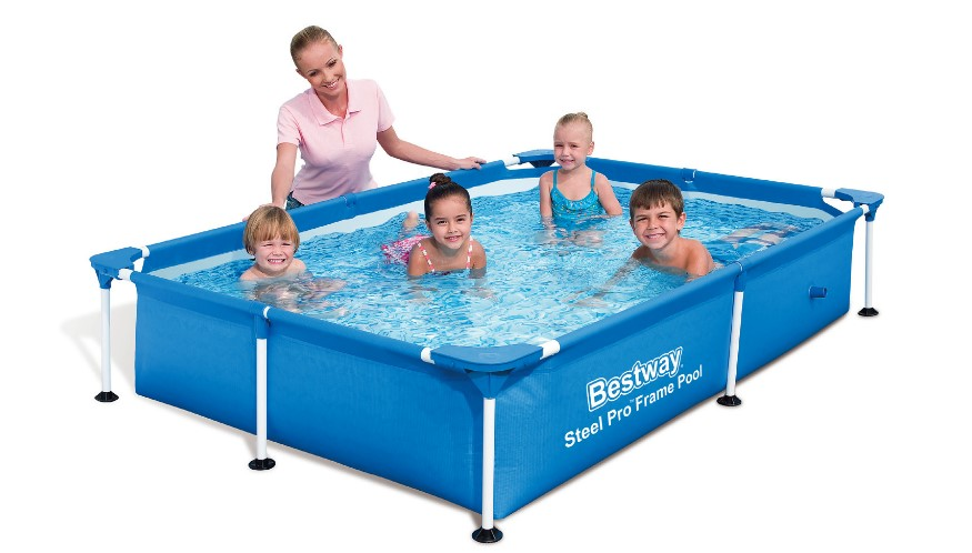 bestway splash jr frame pool 221x150x43cm 56401. Black Bedroom Furniture Sets. Home Design Ideas
