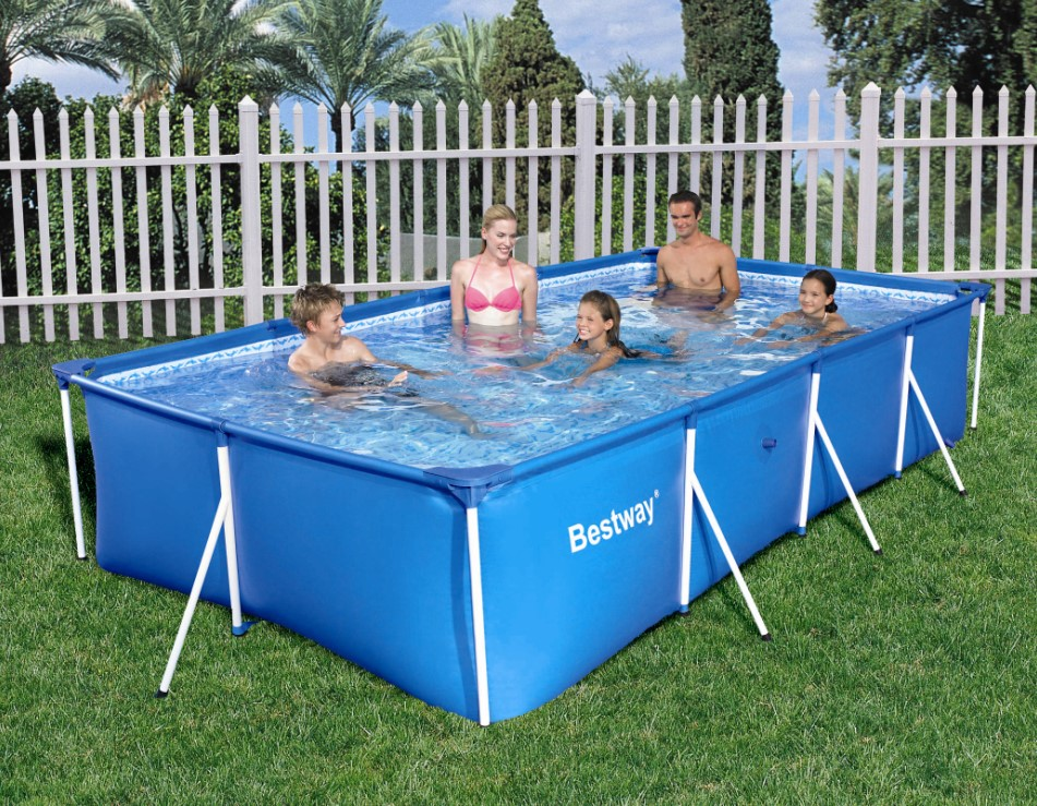 bestway family splash frame pool 400x211x81cm 56405. Black Bedroom Furniture Sets. Home Design Ideas