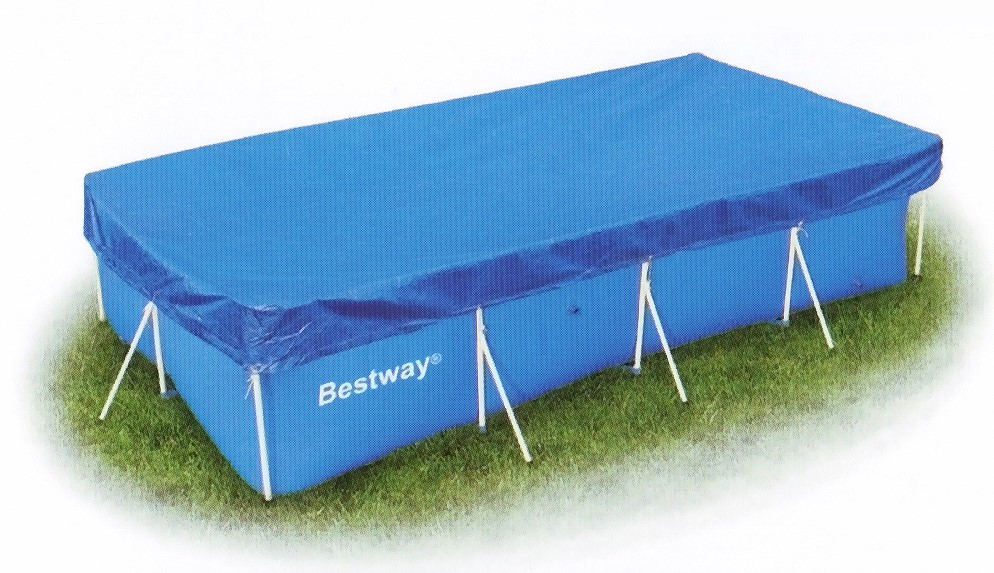 bestway abdeckplane 404x214cm f r frame pools 58107. Black Bedroom Furniture Sets. Home Design Ideas