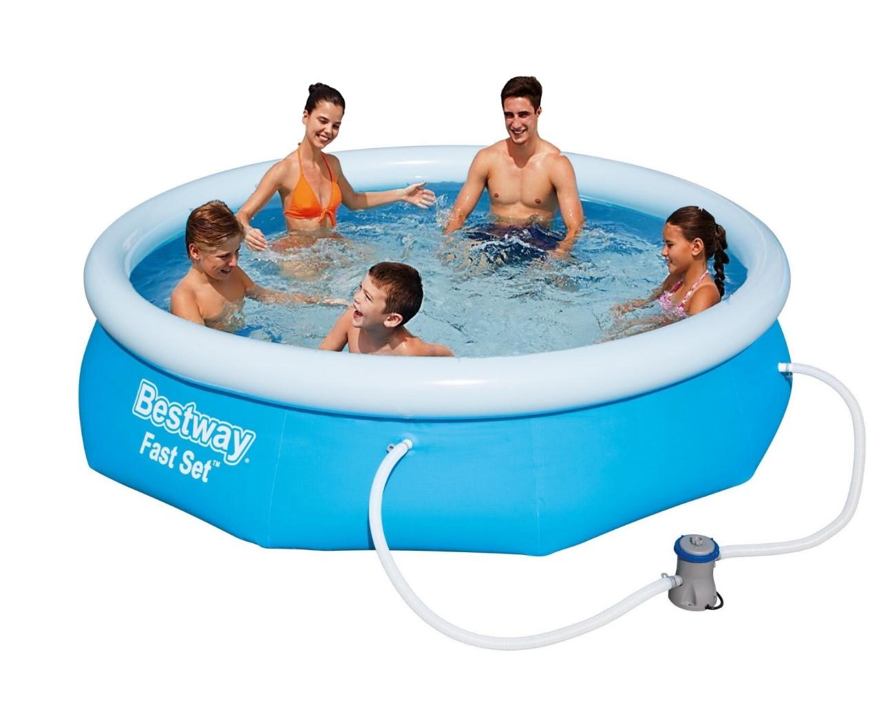 Bestway fast set pool 305x76cm pumpe 57270 gs for Bestway pool ersatzteile