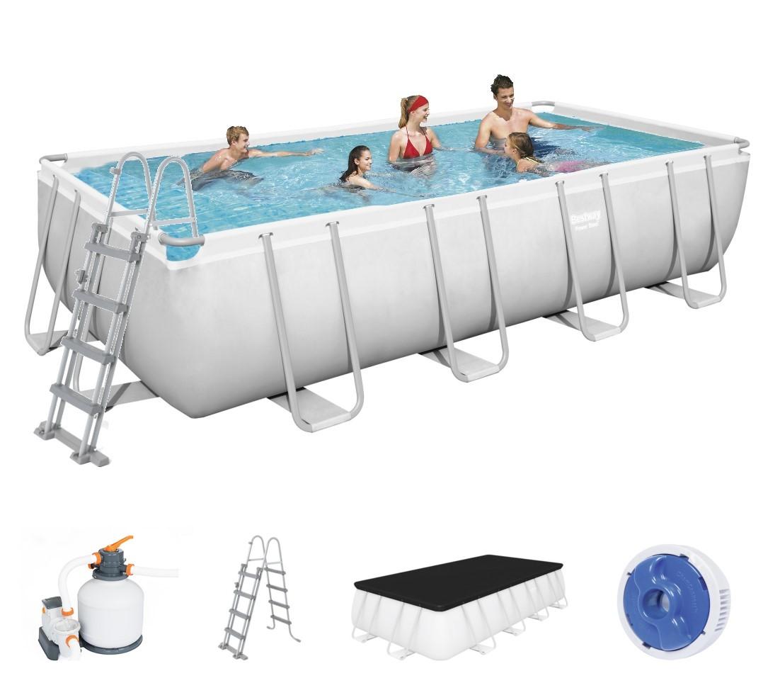 Bestway rectangular frame pool set 549 x 274 sandfilter for Best way piscine