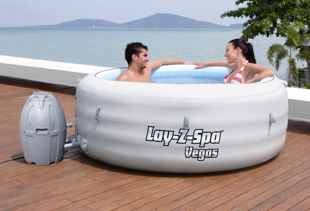 bestway whirlpool lay z spa vegas 54112 grau. Black Bedroom Furniture Sets. Home Design Ideas
