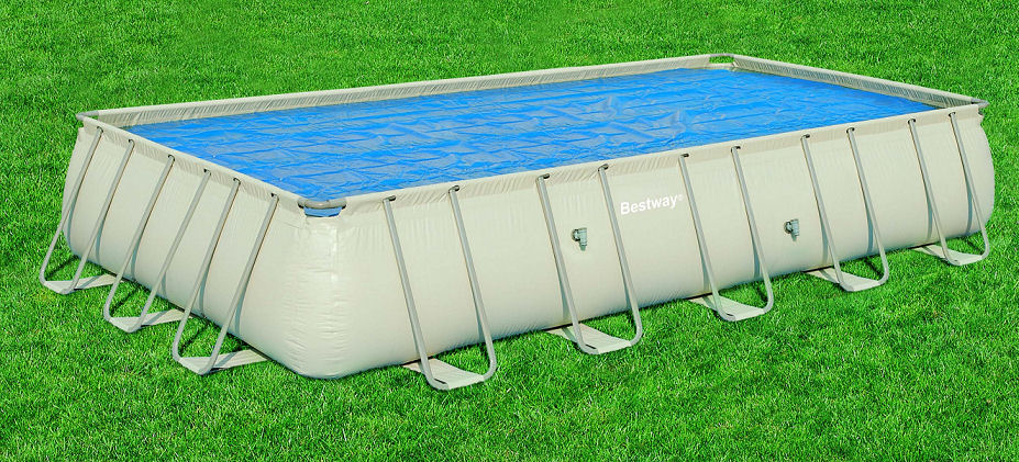 Bestway solarplane f r rechteck pools 400x211 58244 for Pool stahlwand eckig