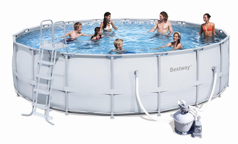 Bestway steel pro pool set 549x132 mit sandfilter 56464 for Pool 457x122 mit sandfilteranlage