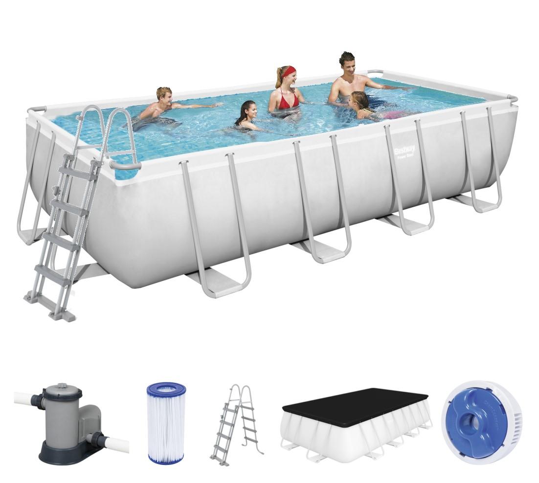 Bestway rectangular frame pool set 549 x 274 56465 for Bestway pool folie