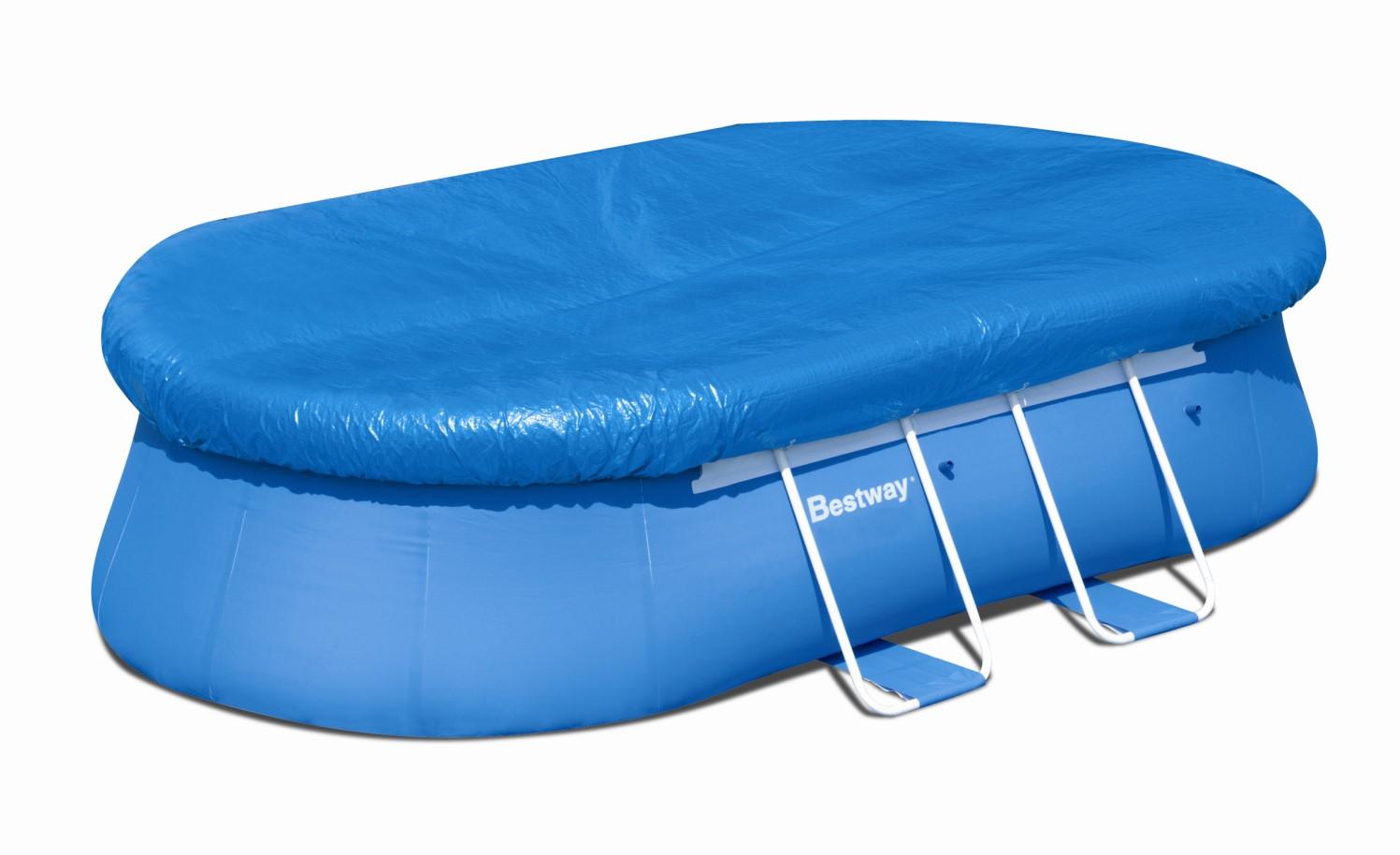bestway abdeckplane 488 x 305 f r oval fast set pool 58262. Black Bedroom Furniture Sets. Home Design Ideas