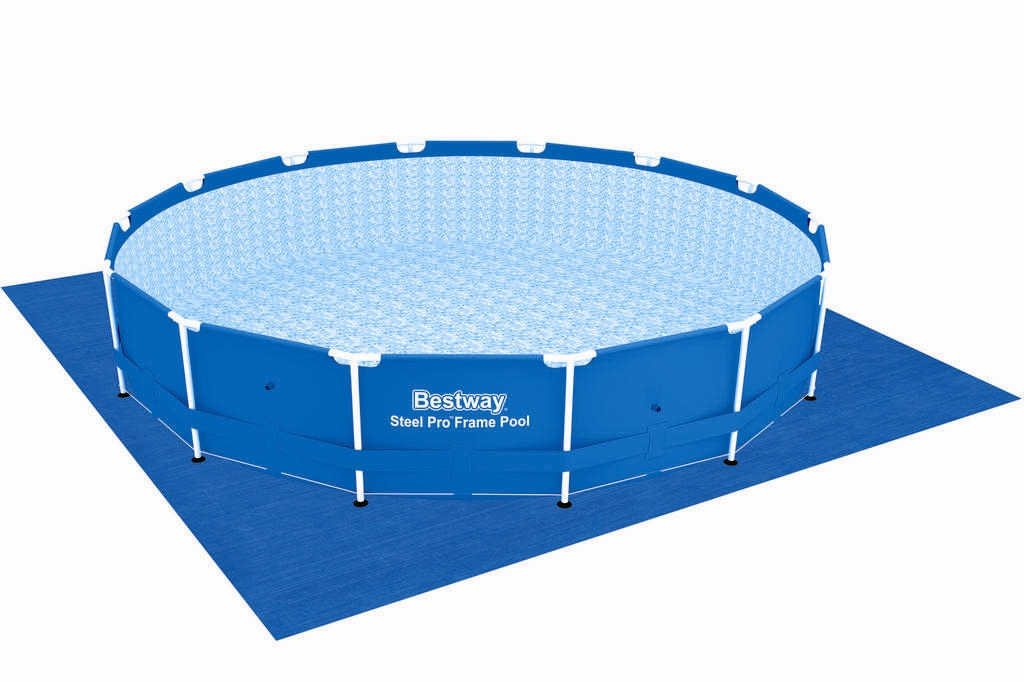 Bestway metal frame pool komplett set 427x100 56422 for Komplett pool