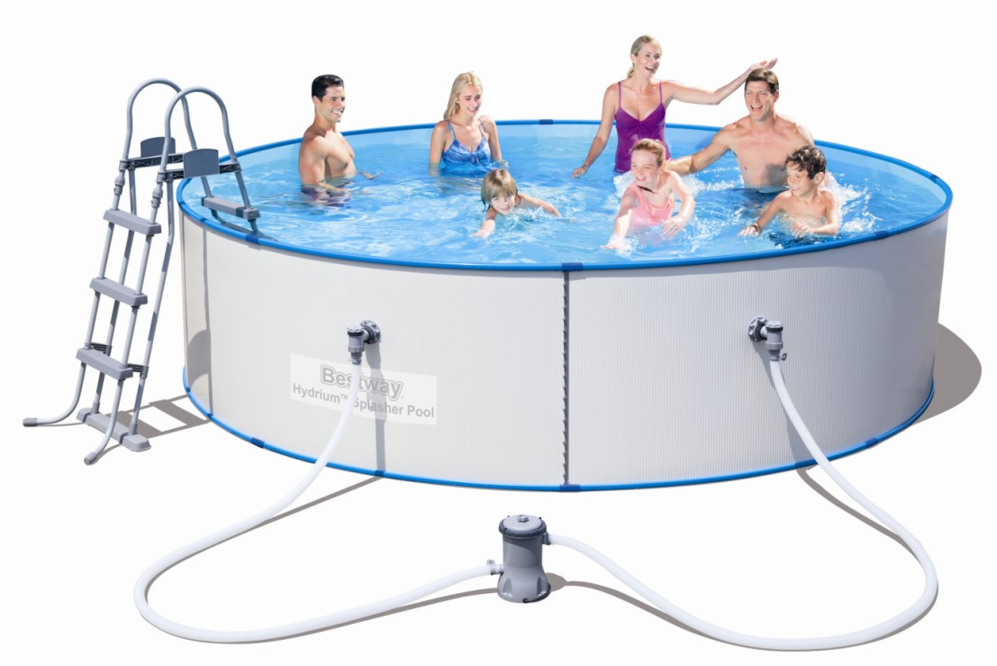 Bestway stahlwandpool set hydrium splasher 360x90 56377 for Piscine hors sol 360 x 120