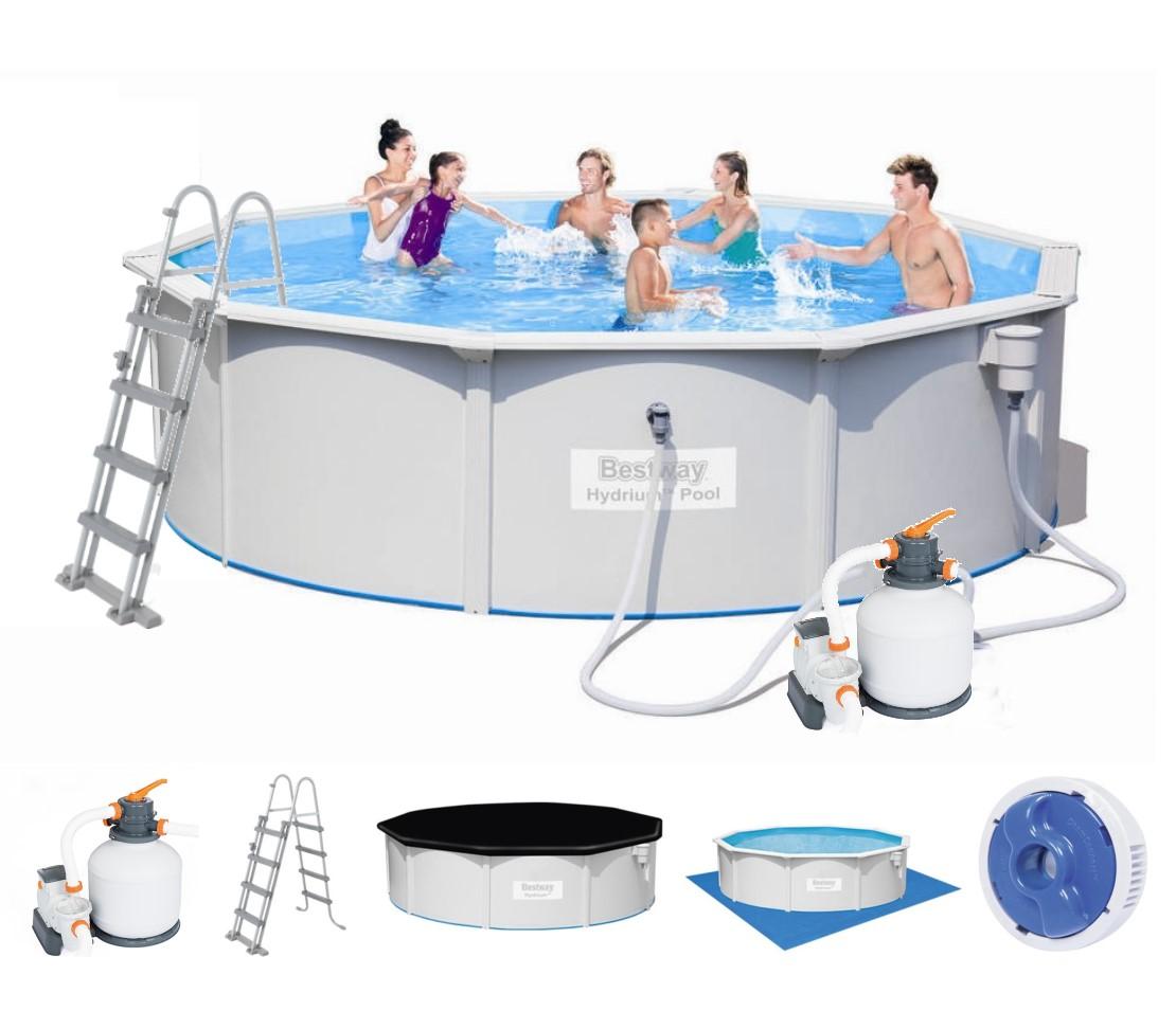 Bestway stahlwandpool set hydrium 460x120 56384 for Bestway pool ersatzteile