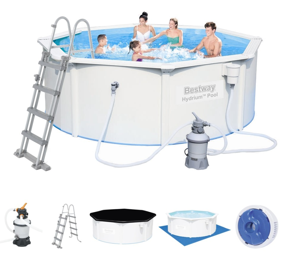 Bestway stahlwandpool set 300x120 sandfilter 56566 for Bestway pool ersatzteile