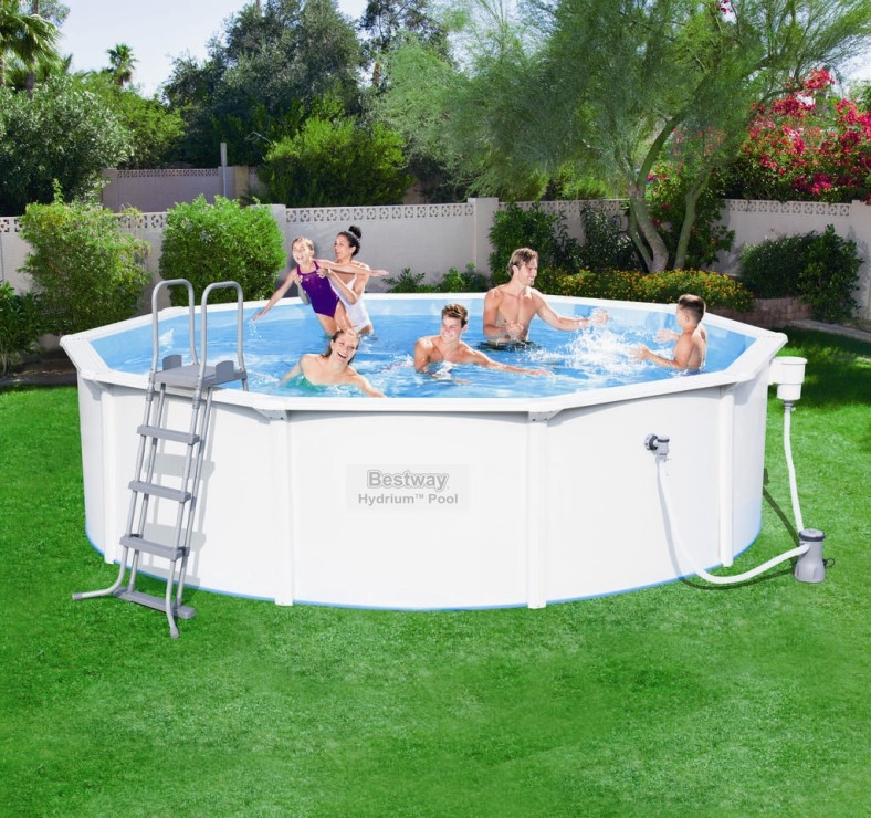 Bestway stahlwandpool set hydrium 460x120 56382 for Bestway pool ersatzteile