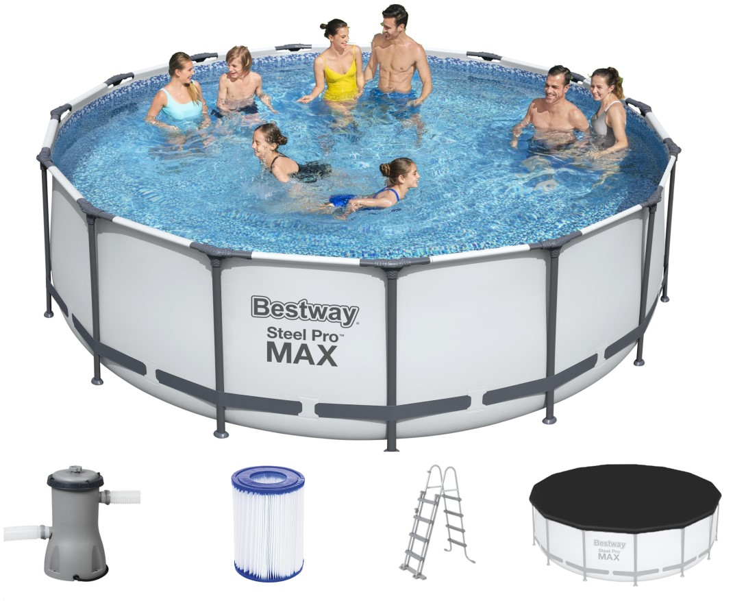 bestway steel pro pool set 457x122 56438. Black Bedroom Furniture Sets. Home Design Ideas