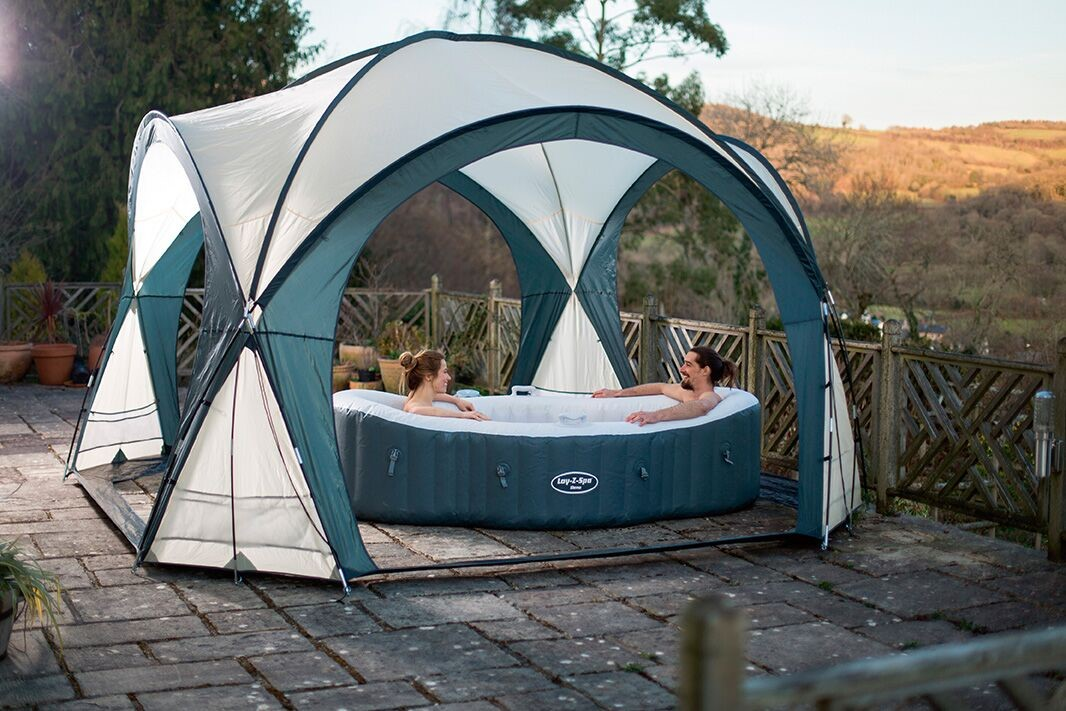 Bestway lay z spa dome poolzelt pavillon 58460 Dome gonflable piscine