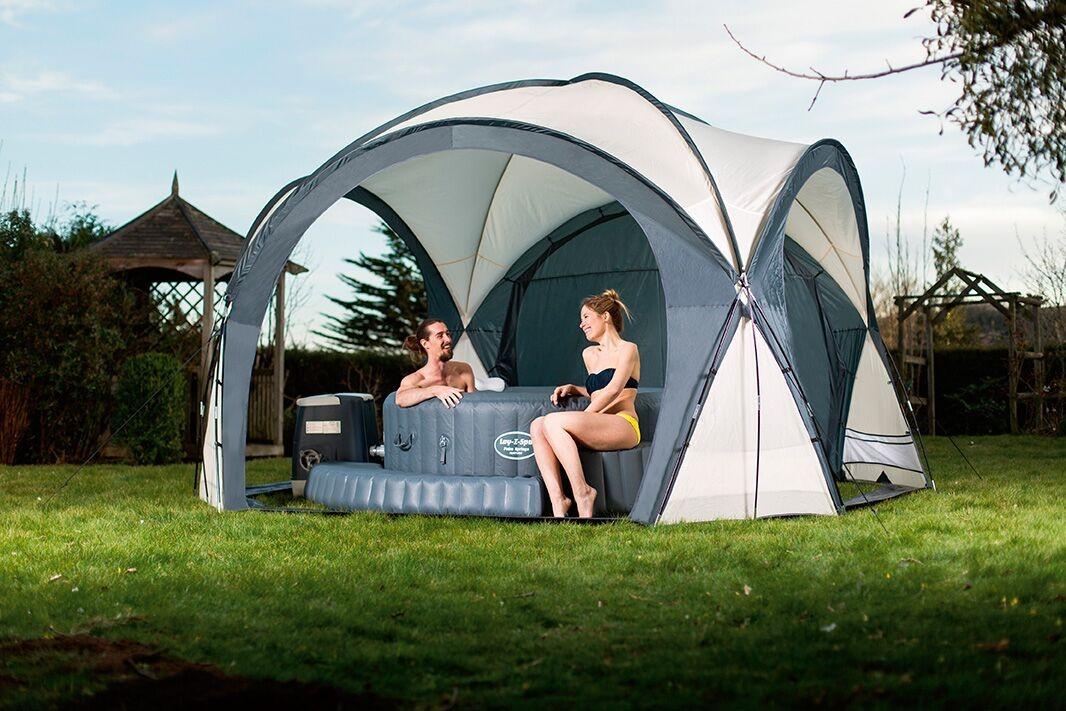 bestway lay z spa dome poolzelt pavillon 58460. Black Bedroom Furniture Sets. Home Design Ideas