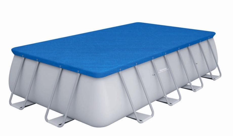 Bestway rectangular frame pool set 671 x 366 mit for Bestway pool folie