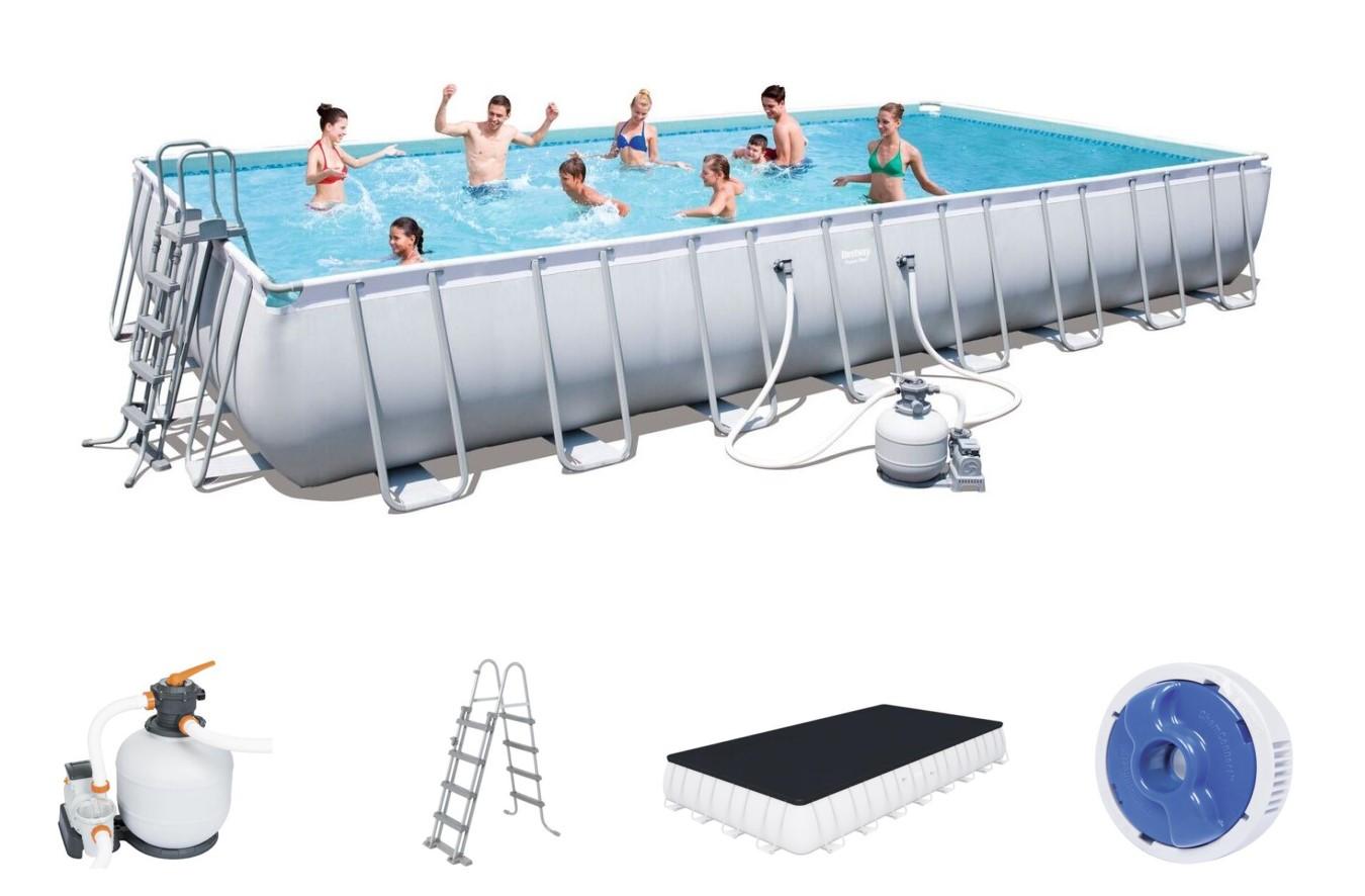 Bestway rectangular frame pool set 956 x 488 x 132 for Bestway pool folie