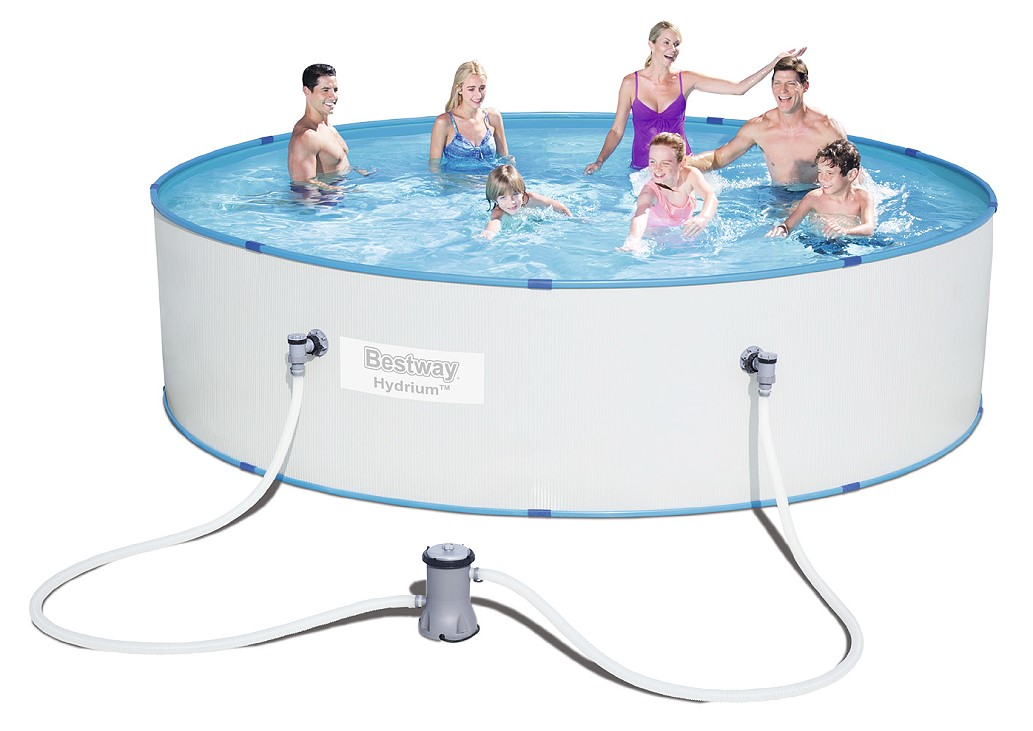 Bestway stahlwandpool set hydrium splasher 330x84 56668 for Stahlwandpool set