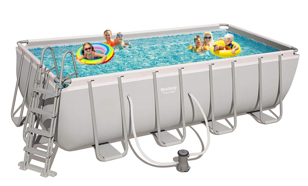 bestway frame pool set 488 x 244 56670. Black Bedroom Furniture Sets. Home Design Ideas