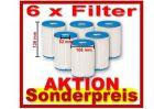 6 x Bestway FILTER Gr.II für Filterpumpe NEU+OVP 58094